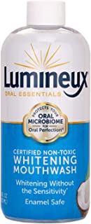 Lumineux Oral Essentials Teeth Whitening Mouthwash - Certified Non Toxic | Whiter Teeth in 7 Days or Less w/o Sensitivity ...