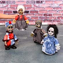 KTMBJ Halloween Toys Dolls Cute Decorations Glowing Walking Ghosts into a Creative Decorations Wholesale Decorations (Size : White hair)