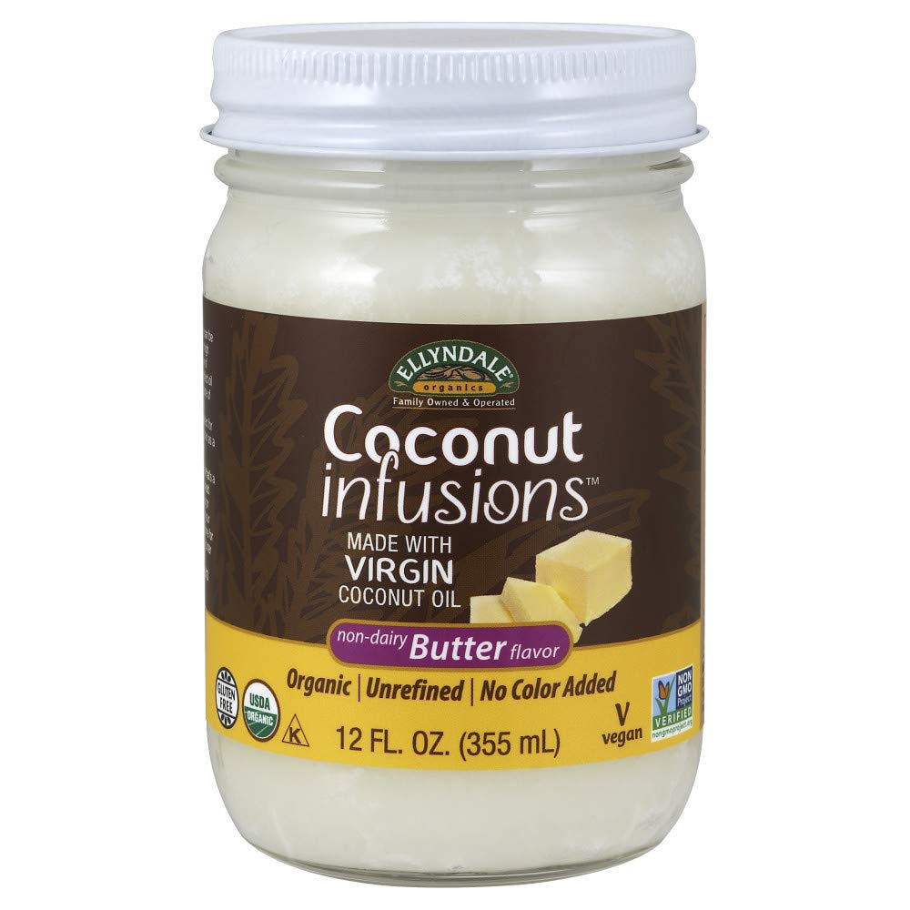 NOW Max 70% OFF Foods Certified Organic Butter Non-Dairy Columbus Mall Coconut Infusions