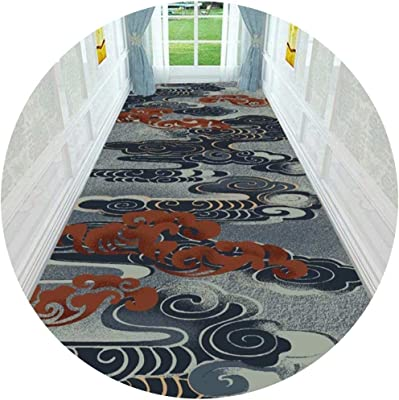 Hallway Runner Rug Long Runner Rugs Corridor Carpet Nordic Style Suitable for Home Aisles and Stairs Long Strip Anti-Slip Mat Two Kinds of Patterns (Color : B, Size : 1.2X1M)