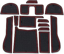 ontto Car Gate Slot Mat for Honda Shuttle 13pcs Interior Door Pad Dust Mats Water Coaster Right-Hand Drive Red