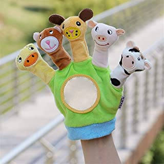 Finger Pocket Plush Toy Parent-Child Educational Toys Fingers Gloves Forest Animal Hand Puppet Prince and Princess Fairy Tale Kingdom Super Cute ( Color : Cloth Animal B , Size : 24cm )