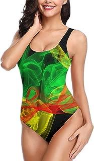 SEX10-7 Tie Dye Wallpaper Rasta One Piece Sexy 3D Print Fake Bikini Swimsuits Bathing Suit Swimwear Beachwear