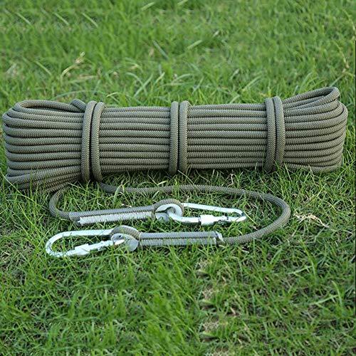 WYX 12mm Kletterseil Home Fire Emergency Escape Rope, Multifunktionale Akkord-Sicherheits-Rope für die Erkundung von Camping und den Schutz der Ingenieurskunst,F,10m