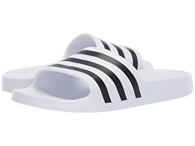 adidas Adilette Aqua (Footwear White/Core Black/Footwear White) Women