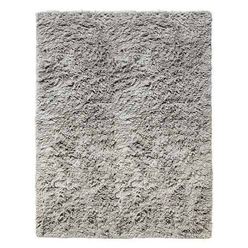 HAY Shaggy Teppich 170x240cm, warmgrau handgewebt Reine Wolle