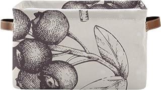 Paniers de rangement Boîte de rangement pour organisateur de placard vintage avec poignée Panier Paniers rectangulaires En...