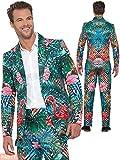 Smiffys Hawaiian Flamingo Suit Traje de Flamenco Tropical Hawaiano, Multicolor, M-Size 38'-40' Unisex Adulto