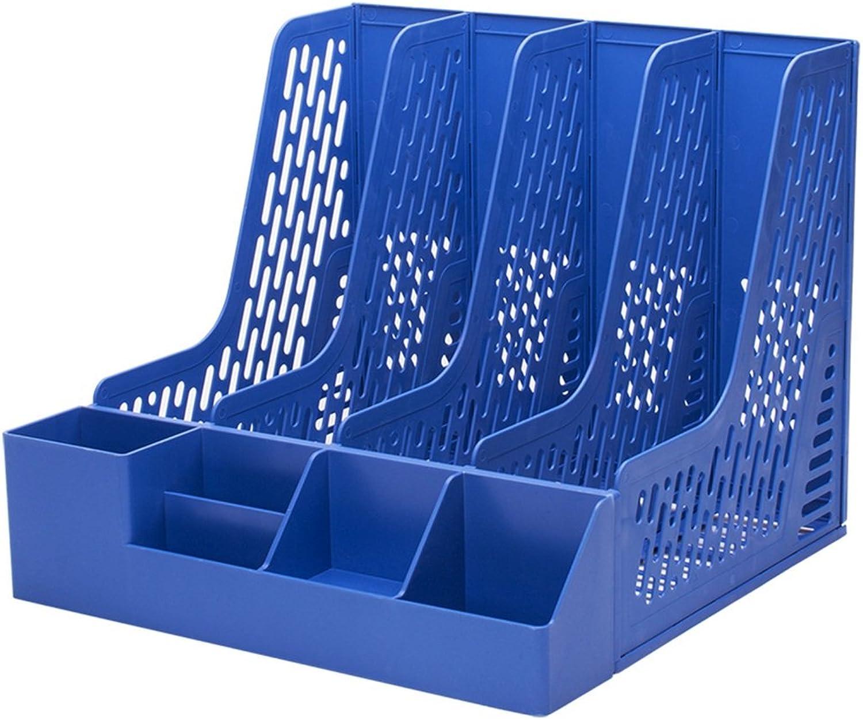 LPYMX Vierfach-Dateispalte-Datenrahmen-Office-Speicherdateispalte (Farbe   Blau) B07KX1ZYXR | Erschwinglich