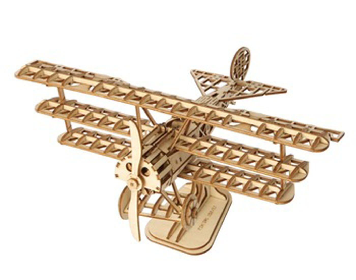 Rolife Wooden Assembly Puzzle Bi Plane