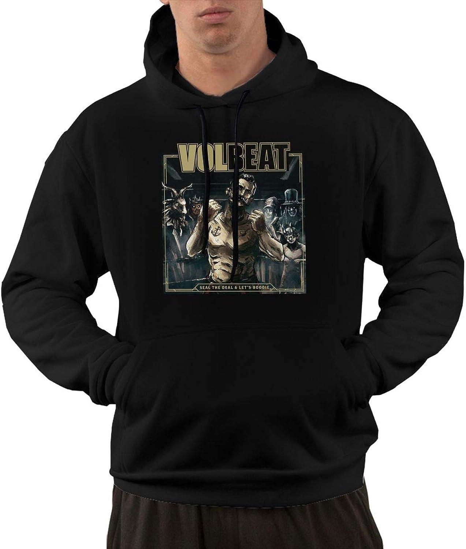 AlbertV Mens Volbeat Seal The Deal & Let's Boogie Hoodies Sweatshirt With Pocket Black