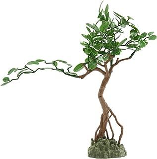 uxcell Aquarium Fish Tank Green Plastic Artificial Tree Design Ornament 23x6x29cm