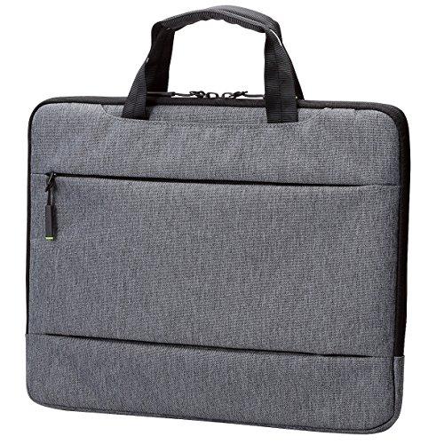 エレコム パソコンケース インナーバッグ 13.3インチ用 MacBook Air, Pro 13inch (2020/2019年モデル対応) 【2020年11月発売 M1チップモデル対応】取っ手付 グレー BM-IBCH13GY