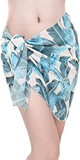 CHIC DIARY パレオ 水着 シフォンパレオ 大判 ビーチウエア 体型カバー ショール ビキニカバー ワンピース スカート ストール ビーチドレス 日焼け止め