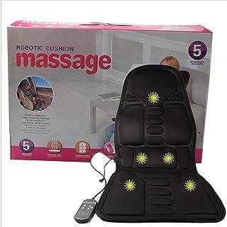 HONZIRY Colchón de Masaje Cuerpo Completo Calefactor masajeador Cojín de Control Remoto Plegable, Negro