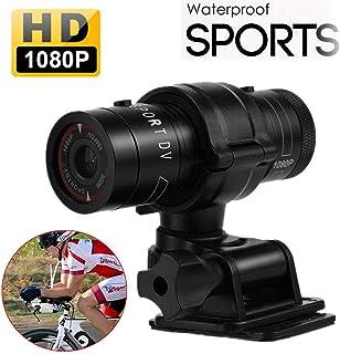 Hangang Mini Deportes cámara 1080p Full HD acción impermeable Deporte casco Moto Casco cámara de vídeo DVR AVI Video Camcorder ayuda 32 GB TF tarjeta ideal para Escalada Esquí Equitación etc