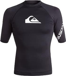 Quiksilver Men's All Time Short Sleeve Rashguard UPF 50+ Sun Protection