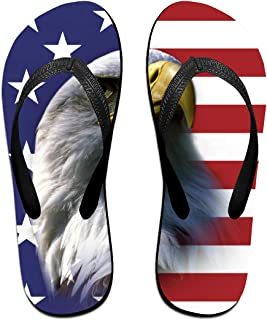 American Flag Eagle Women's Thong Sandals Funny Light Weight Shock Proof Shower Slippers Flip-Flops
