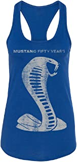Mustang Fifty Years Licensed Product Women's Racerback Shelby Official Ford Shirt
