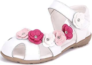 Little Girl's Soft Leather Sandal Flowers Princess Oxford Shoes