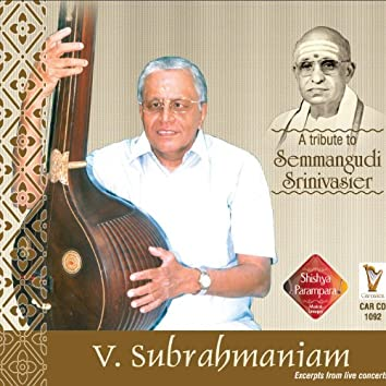 V. Subrahmaniam - Excerpts From Live Concert