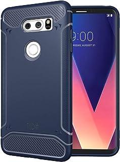 Tudia LG V30 / V30+ PLUS TAMM case/cover - Navy Blue with Carbon Fiber texture