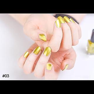 hjuns-Wu マニキュア パール感 1ボトル 6ml ネイルポリッシュ(黄色)