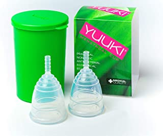 Yuuki Menstrual Cup - Small Classic and Small Soft + Infuser Box + Small Gift