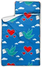 HJSHG Kids Sleeping Bag Dove Carrying Envelope Pattern Repeat Nap Mat with Pillow for Toddler Boys and Girls,Classic Slumb...