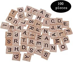 100 X Plástico Scrabble Azulejos Letras Números artesanía Alfabeto scrabbles Marfil