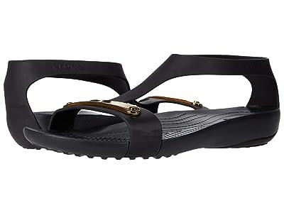 Crocs Serena Metallic Bar Sandal (Gold/Black) Women