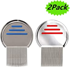 Professional Reusable Lice Comb for Kids Adults Lice Treatment,Helix-Spiraled Nit Comb 2Pack