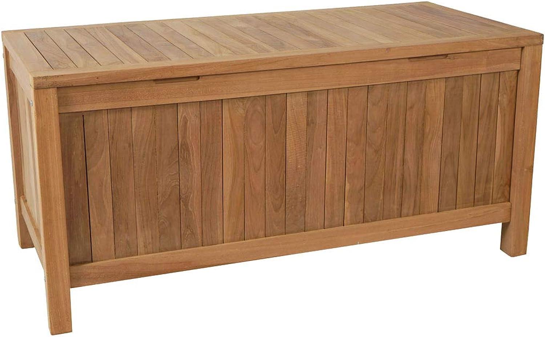 KMH, Teak Gartentruhe Kissenbox Auflagenbox ( 102113)