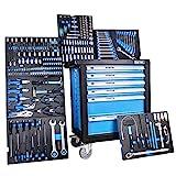 3066 Servante d'Atelier avec Outils complete I chariot d'atelier bleu