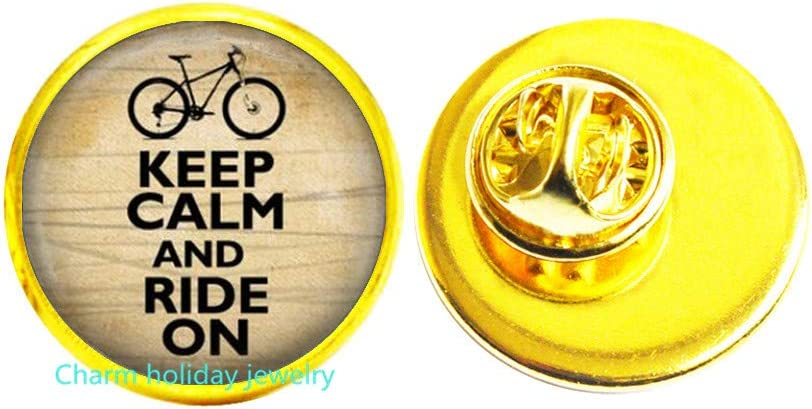 Keep Calm Ranking TOP10 and Ride New Orleans Mall On Wearable Bicycle Art Jewelry Brooc
