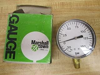 Marshall Town G24478 Pressure Gauge 0-150 Psi 0-30 In. Hg Vac