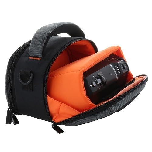 Sac housse coque dure pour caméscope avec poignée de transport et bandoulière pour par exemple Panasonic HC-V180 V777 - Sony HDR CX240E CX450 CX625, etc