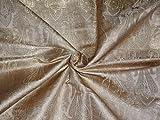 Brokat-Stoff Beige, Gold X Metallic Gold Farbe – Hobby,