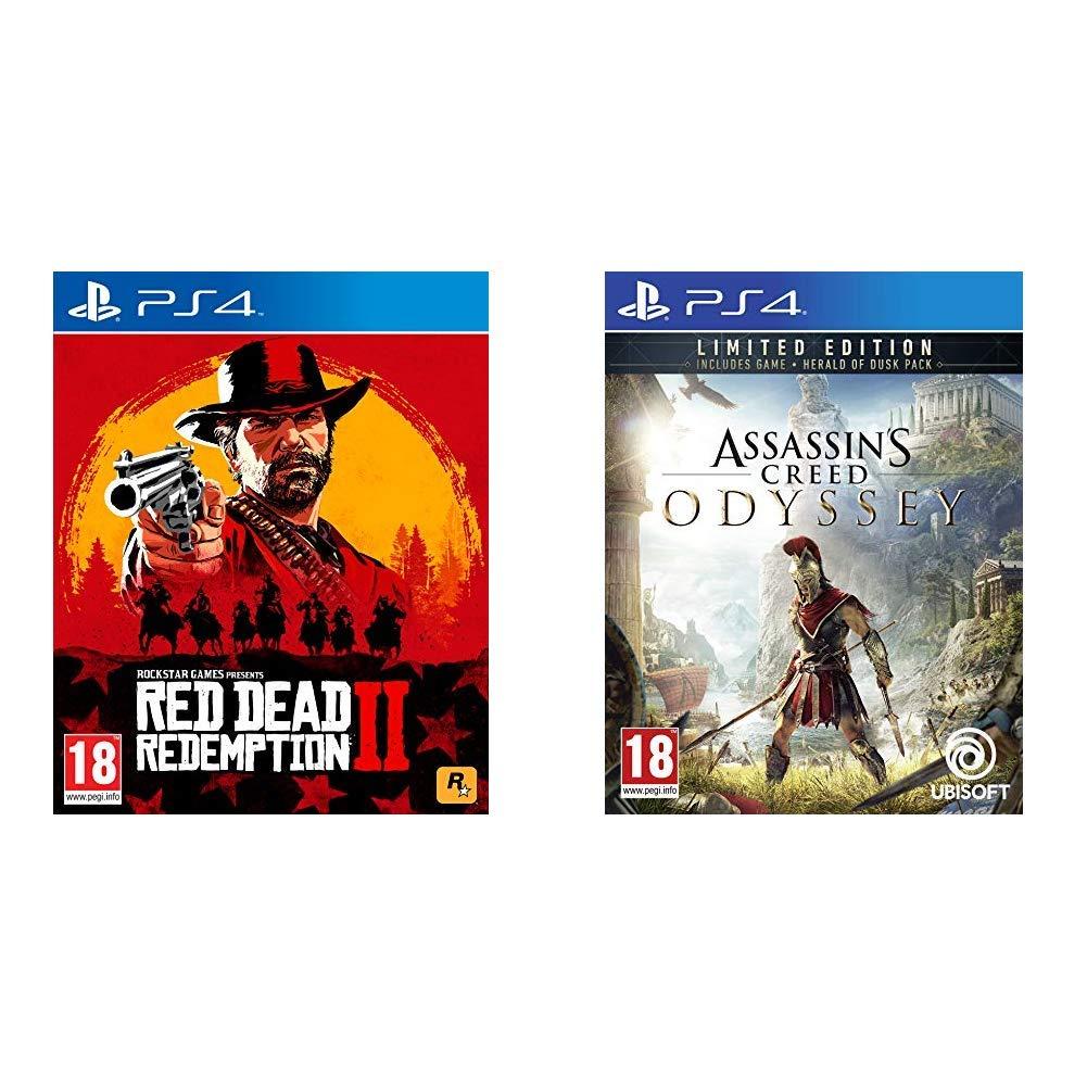 Red Dead Redemption 2 + Assassins Creed Odyssey Limited Edition - - PlayStation 4 [Importación inglesa]: Amazon.es: Videojuegos