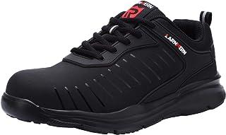LARNMERN Scarpe Antinfortunistica Uomo Donna Leggere,Sneaker da Lavoro Antiscivolo Traspirante Punta in Acciaio Scarpe L90...