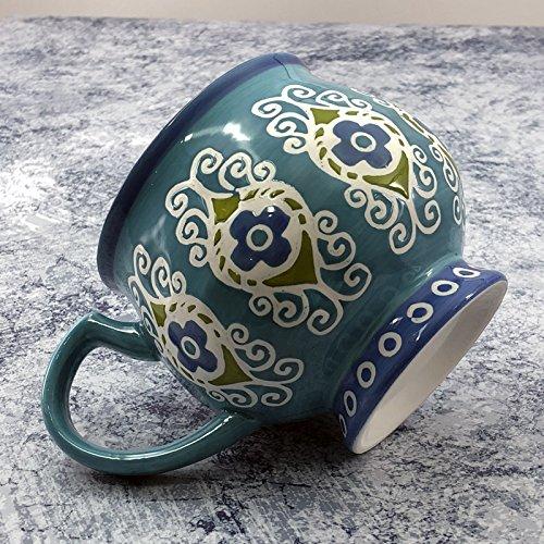 HONGYUANZHANG Lait en Céramique Tasse Tasse De Café Petit Déjeuner Mug Tasse De Bureau,Bleu Royal
