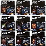 Hot Wheels Star Wars Commemorative Series Silver Full Set of 9 Vehicles Millennium Falcon Starship