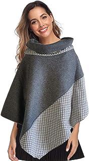 Mantella in pile grigio e inserti in lino