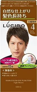 ルシード ワンプッシュケアカラー ライトブラウン 1剤50g・2剤50g 【医薬部外品】