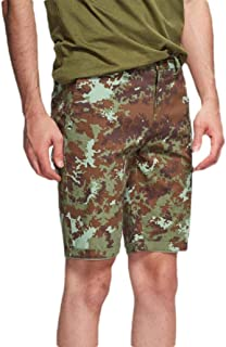 Zimaes Men Relaxed Sports Straight Leg Workwear Outdoor Twill Cargo Shorts