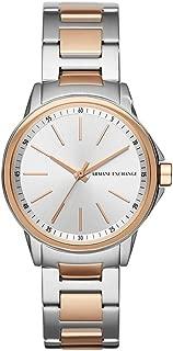 A|X Armani Exchange Women's AX4363 Analog Display Analog Quartz Rose Gold Watch