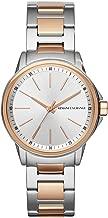 Armani Exchange Women's AX4363 Analog Display Analog Quartz Rose Gold Watch