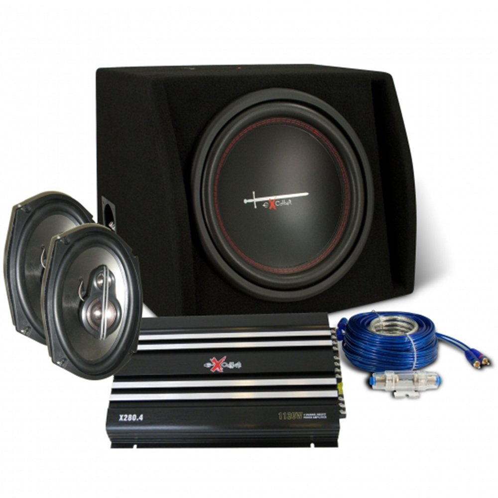 Pack Audio de Coche EXCALIBUR X2Trunkp. Altavoces, Subwoofer ...