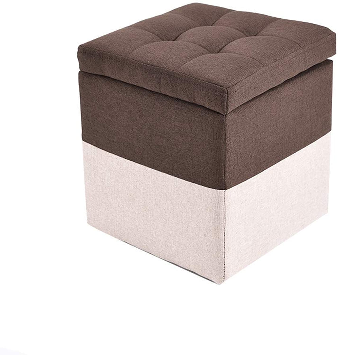 Footstool Change shoes Bench Storage Stool Household Cloth Stool 30X30X30CM Sofa Stool Living Room Haiming (color   C, Size   30X30X35CM)