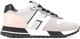 Scarpe Hogan da Donna H3830 HXW3830CR00NCK0RSG Sportive Sneakers Nuove Comode Casual in Pelle Grigio Rosa Argento Shoes